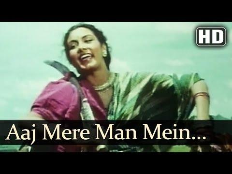 Aaj Mere Man Mein HD  Aan 1952 Songs  Dilip Kumar  Nadira  Lata Mangeshkar