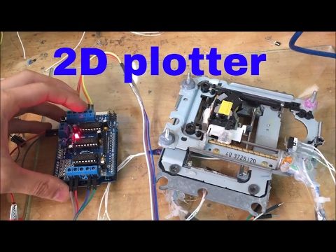 how to reuse CD rom to make a 2D Plotter