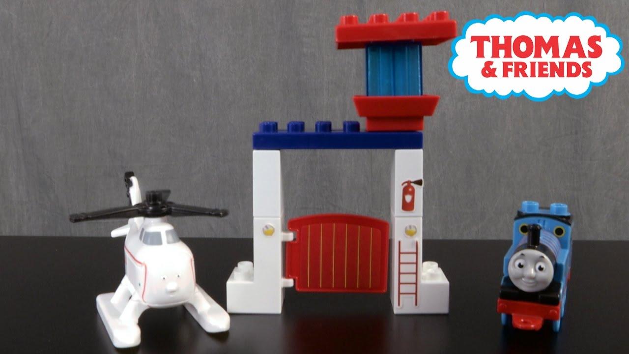 Mega Bloks Thomas and Friends Thomas and Harold Rescue Building Set