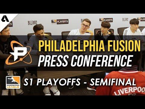 Philadelphia Fusion Overwatch League Semifinals Press Conference thumbnail