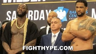 DEONTAY WILDER VS. DOMINIC BREAZEALE FULL WEIGH-IN AND