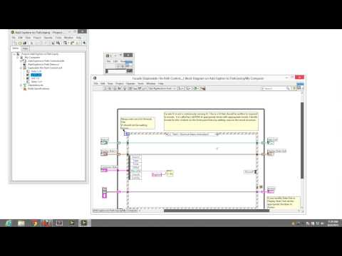 Adding items to the shortcut menu in LabVIEW