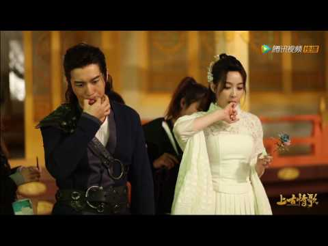 [HD] Huang Xiaoming & Victoria attempt to whistle -《上古情歌》'A Life Time Love' BTS