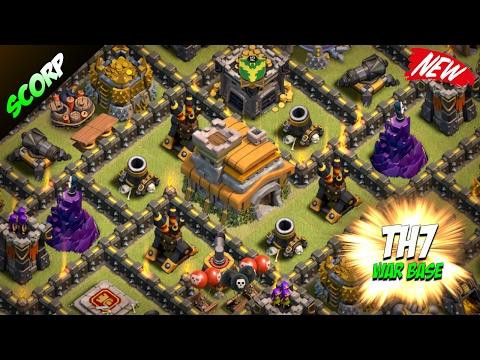 Clash Of Clans - TH7 WAR BASE ANTI DRAGON 2017