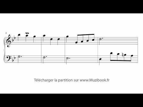 Partition Menuet en sol mineur - Bach (Déchiffrage)