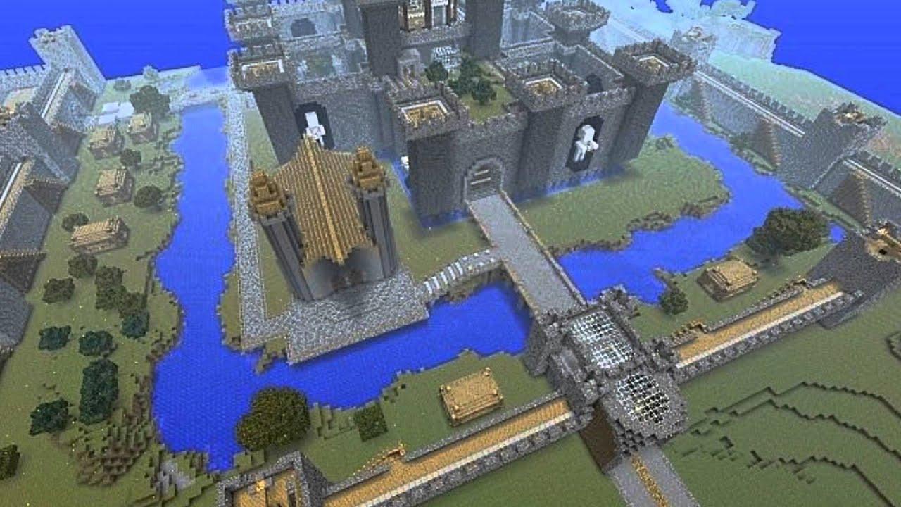 Карта замка chateau castle для майнкрафт ре 0.14.0