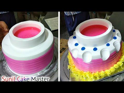 Top 1 Amazing Cake Decorating Tutorial | How To Make Painepple Cake | Pink Gel Cake Sunil Cake