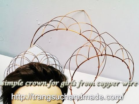 easy crown - full version ( slow ) - How to make wire jewelry 281