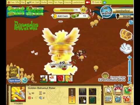 Social Empires - Golden Bahamut Dragon Rider