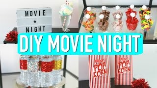 DIY Movie Night! Decor, Treats & More! 🎥 🍭