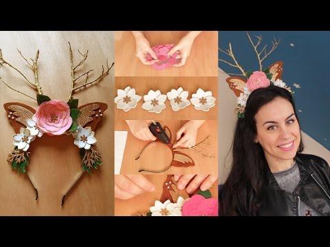 DIY: Diadema de reno para Navidad (con plantillas o patrones) ♥ Mejores ideas de Sara