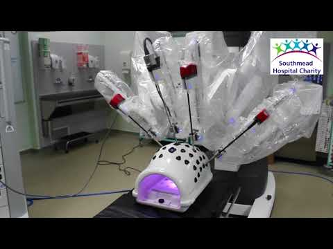 The new urology robot at Southmead Hospital