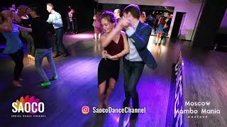 Vlad Kuzmin and Natasha Chumakova Salsa Dancing at Moscow MamboMania weekend, Saturday 27.10.2018