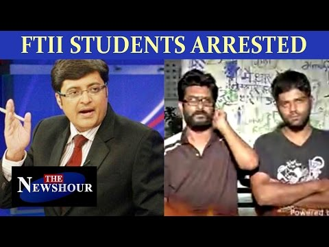 #FTIIMahabharat: Pune arrest, Delhi drama | Rioting charges against Students? : The Newshour Debate
