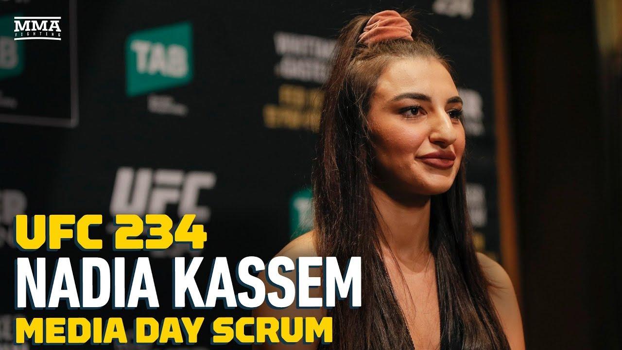 91e216efe488 UFC 234  Nadia Kassem Explains How She Got Injured  Riding A Little ...