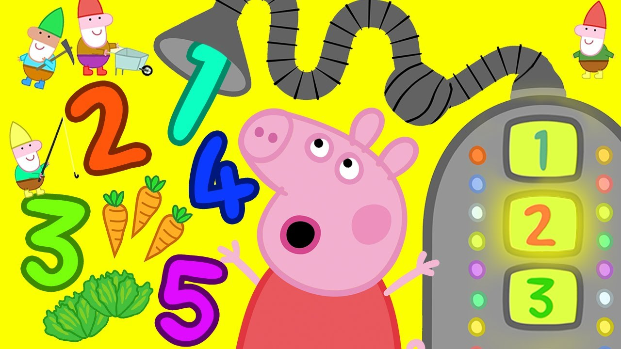 Peppa Pig 💯 Counting with Beep Bop Boop - 7 | Learning Videos for Toddlers | Learn with Peppa Pig