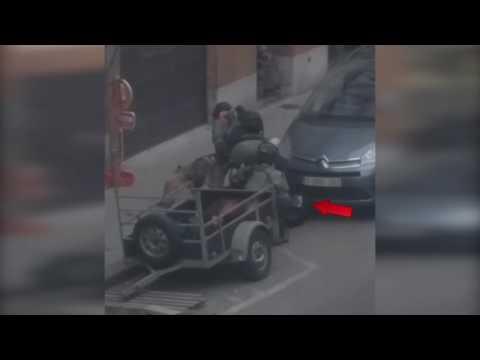Attentat du Bataclan : Vidéo amateur de la capture de SALAH ABDESLAM