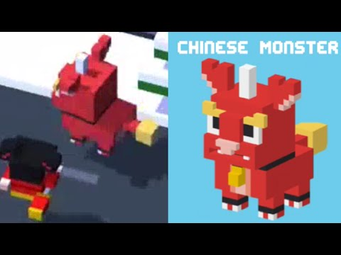 ★ CROSSY ROAD unlock CHINESE MONSTER ★ NEW Crossy Road Secret Character | Android