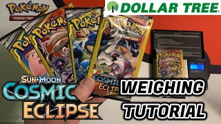 Cosmic Eclipse Dollar Tree Pack Weighing Tutorial