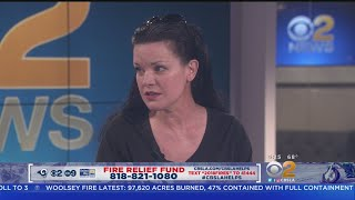 Fire Relief Fund: Pauley Perrette Joins Pat Harvey And Jeff Michael On The CBS2 Set
