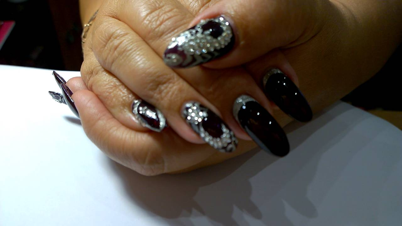 Скорпион стразами картинки на ногтях