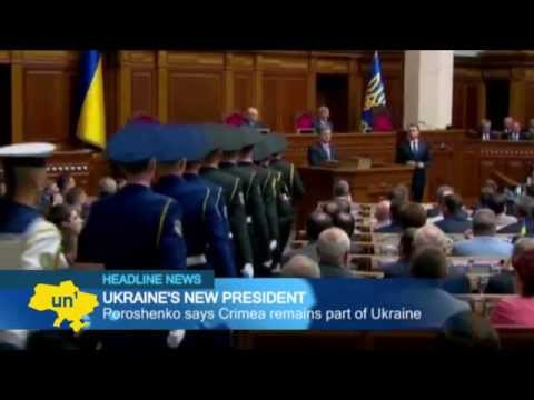 Crimea is Ukrainian: President Petro Poroshenko delivers defiant and ambitious inaugural speech