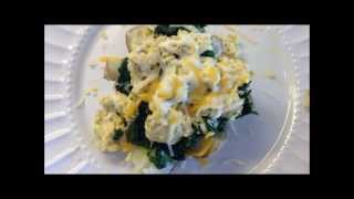 Only 260 Calories! Eggs Florentine In A Nest :) Low Calorie Meal For One :) Yum!
