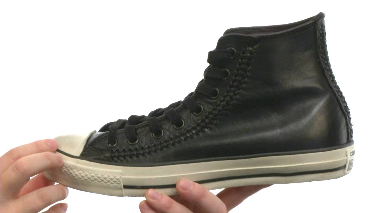 7b6e6b194787 Converse by John Varvatos - Chuck Taylor All Star Hi - Woven Leather  SKU  8262679 - YouTube