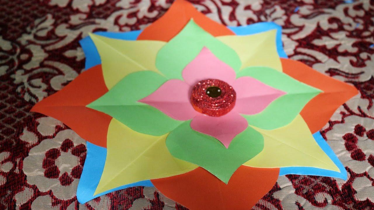 Diy Home Decor Idea How To Make Paper Crafts Step By Step Home - home decor crafts with paper