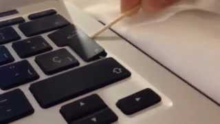 How to clean your macbook/air/pro keyboard!
