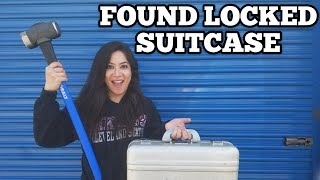 FOUND LOCKED SUITCASE I Bought Abandoned Storage Unit Locker / Opening Mystery Boxes Storage Wars