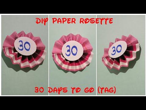 DIY Paper Rosette | DIY Paper Fan | DIY Gift Ideas | Paper Craft