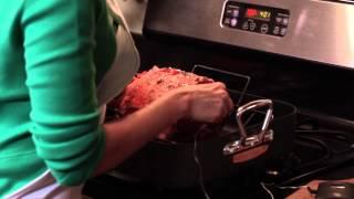 Maple-glazed Rib Roast With Roasted Acorn Squash