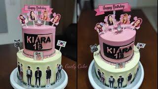 BTS Cake &amp BLACKPINK cake  blackpink cake design Gaely Cake