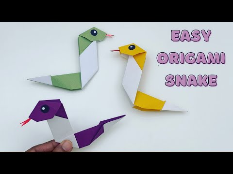 How To Make Easy Paper SNAKE For Kids / ORIGAMI SNAKE / Paper Craft Easy / KIDS crafts