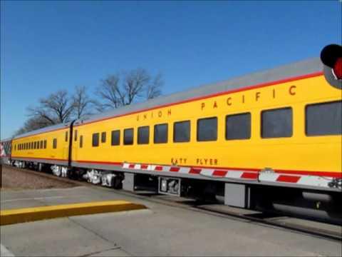 Union Pacific Passenger Train At Ames Iowa Youtube