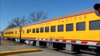Union Pacific passenger train at Ames, Iowa