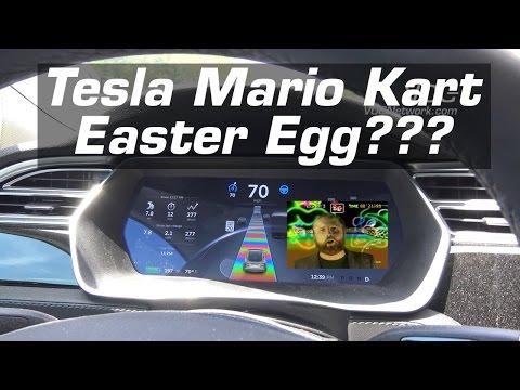 Tesla Model S/X/3 Easter Egg - Rainbow Road (Mario Kart?)