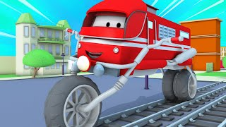 Train for kids -  The motorbike truck - Troy The Train in Car City