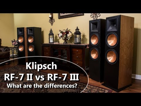 Differences Between Klipsch RF-7 II and RF-7 III Reference Speakers