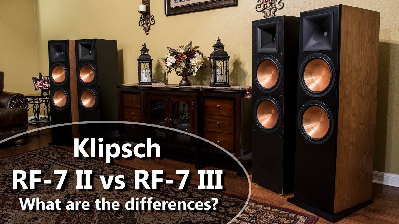 differences between klipsch rf 7 ii and rf 7 iii reference. Black Bedroom Furniture Sets. Home Design Ideas