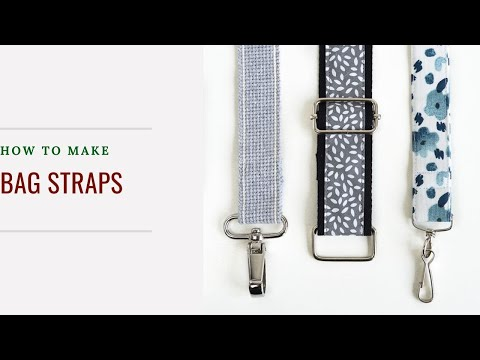 How to sew bag straps and adjustable bag straps - YouTube