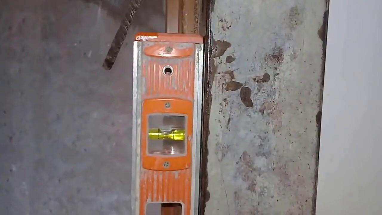 Como perfilar con yeso el marco de una puerta.... - YouTube