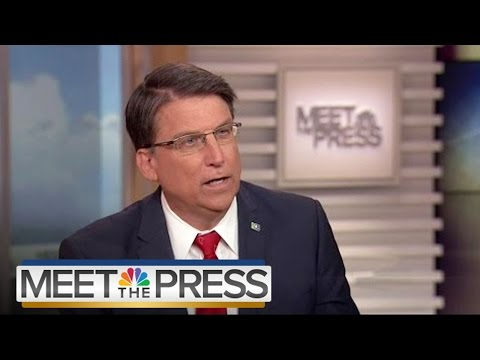 Pat McCrory: Government Shouldn't Be HR In Private Businesses | Meet The Press | NBC News