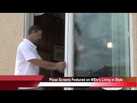 Plisse Retractable Screens For Sliding Glass Doors Youtube