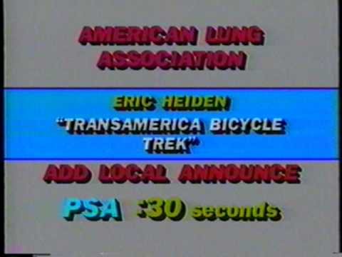 1987 American Lung Association TransAmerica Bike Trek PSA (Eric Heiden Spokesperson)