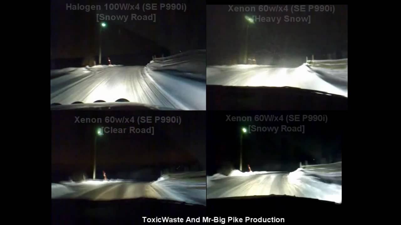 Bosch 225 Big Knick Halogen Vs Xenon Final Test Youtube