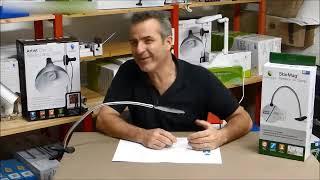 Test et présentation de matériel pour l'Atelier : Daylight Loupe sur bras flexible