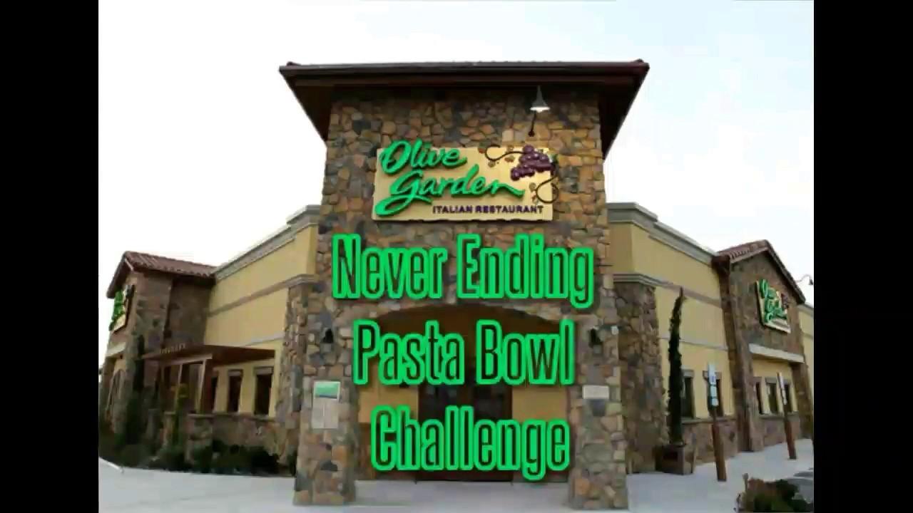 Olive Garden Never Ending Pasta Bowl Challenge Youtube