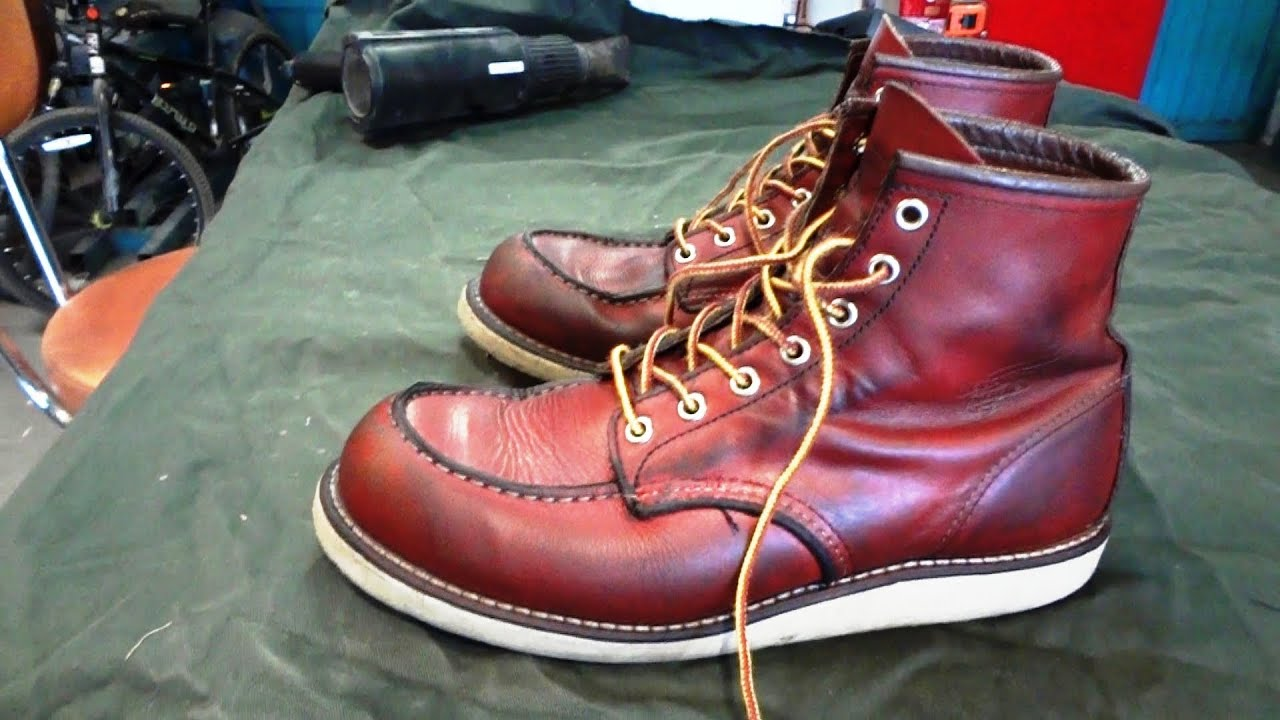HOW TO CONDITION RED WING LEATHER BOOTS, boot care and ...